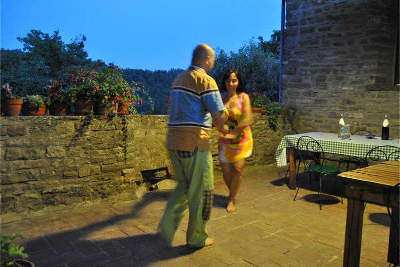 improvised dance on the terrace